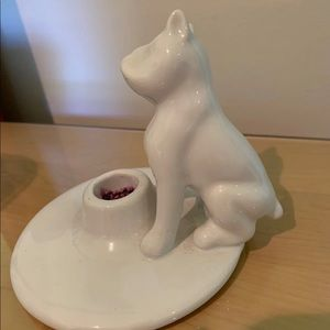 French bulldog candle holder fro Anthropologie